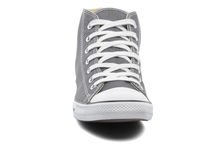 Sneaker Converse All Star Dainty Canvas Mid W grau schuhe getragen
