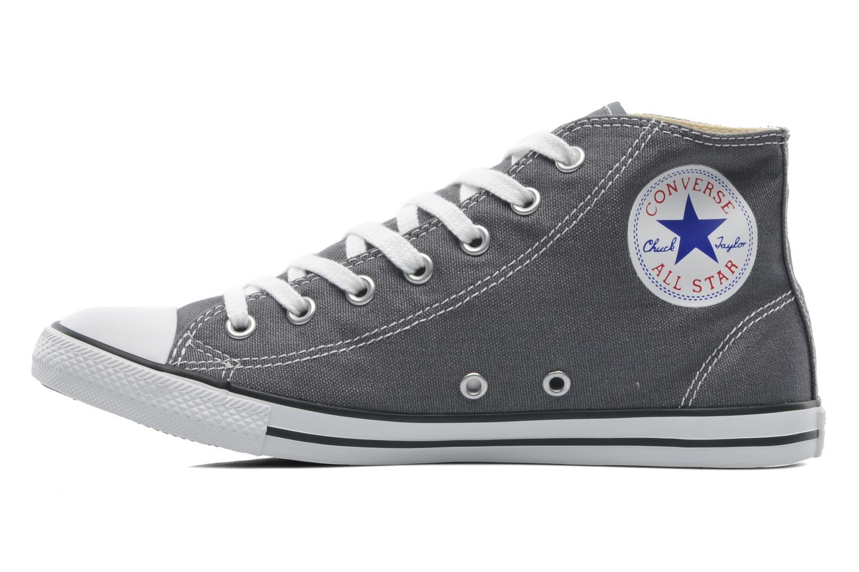 Sneaker Converse All Star Dainty Canvas Mid W grau ansicht von vorne