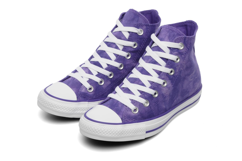 Baskets Converse Chuck Taylor All Star Tie & Dye Hi W Violet vue 3/4