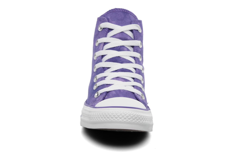 Sneaker Converse Chuck Taylor All Star Tie & Dye Hi W lila schuhe getragen