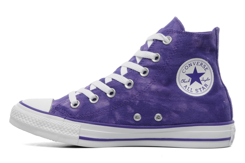Sneaker Converse Chuck Taylor All Star Tie & Dye Hi W lila ansicht von vorne