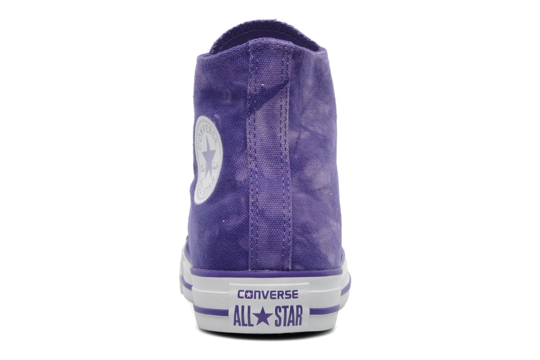 Sneaker Converse Chuck Taylor All Star Tie & Dye Hi W lila ansicht von rechts