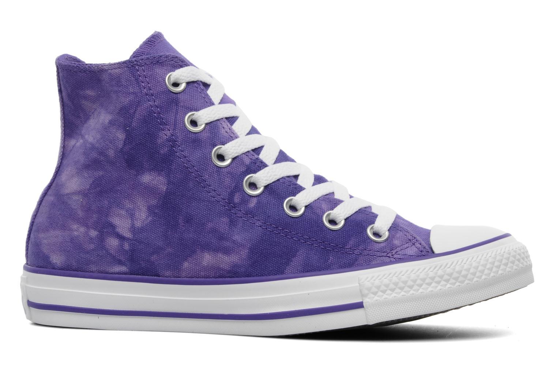 Sneaker Converse Chuck Taylor All Star Tie & Dye Hi W lila ansicht von hinten