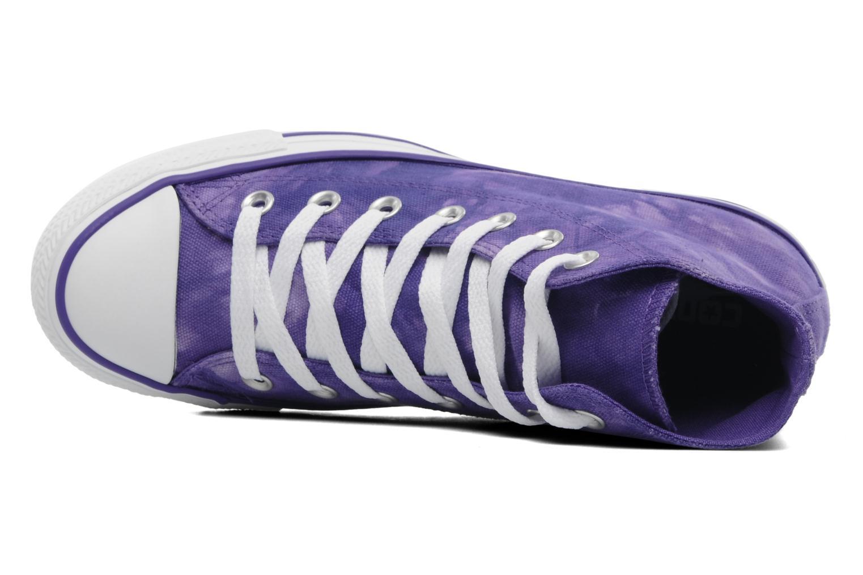 Sneaker Converse Chuck Taylor All Star Tie & Dye Hi W lila ansicht von links
