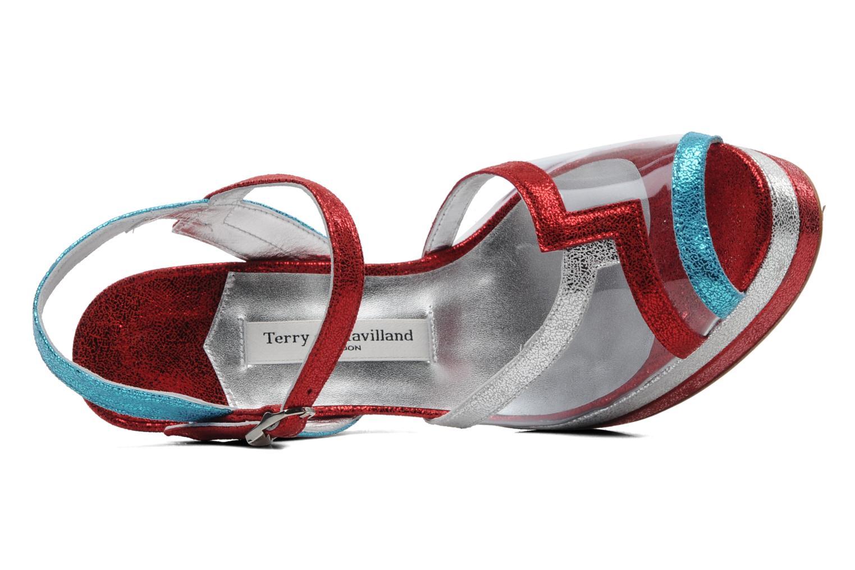 Deco Turq/red/Silver