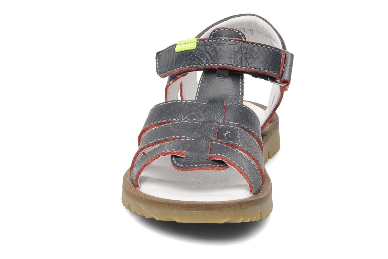 Sandales et nu-pieds GBB GREG Bleu vue portées chaussures