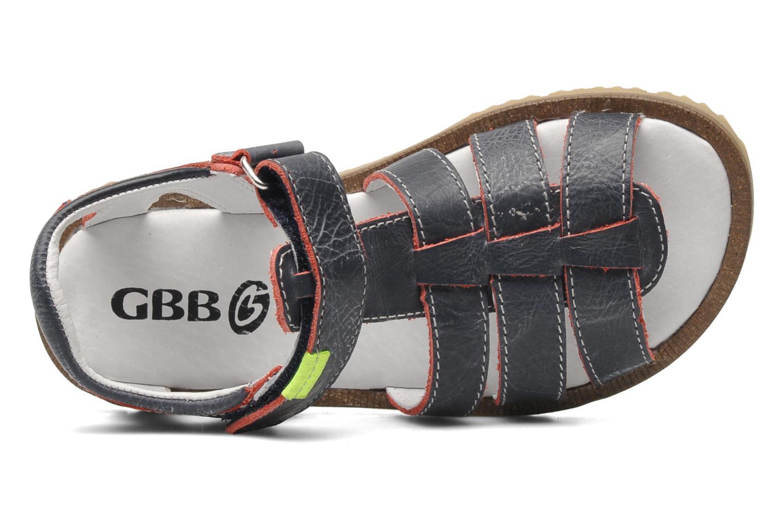 Sandales et nu-pieds GBB GREG Bleu vue gauche