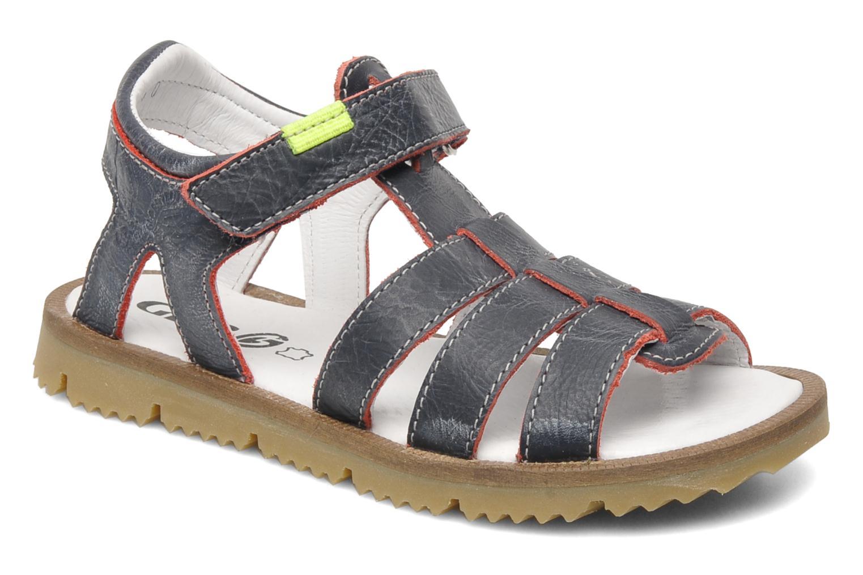 Sandaler GBB GREG Blå detaljerad bild på paret