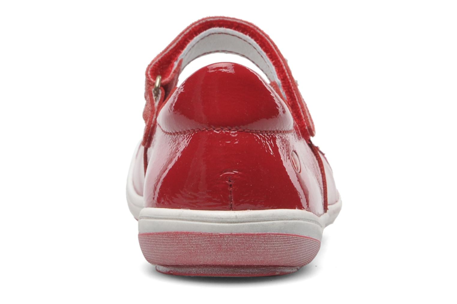 Ballet pumps GBB GIOVANA Red view from the right