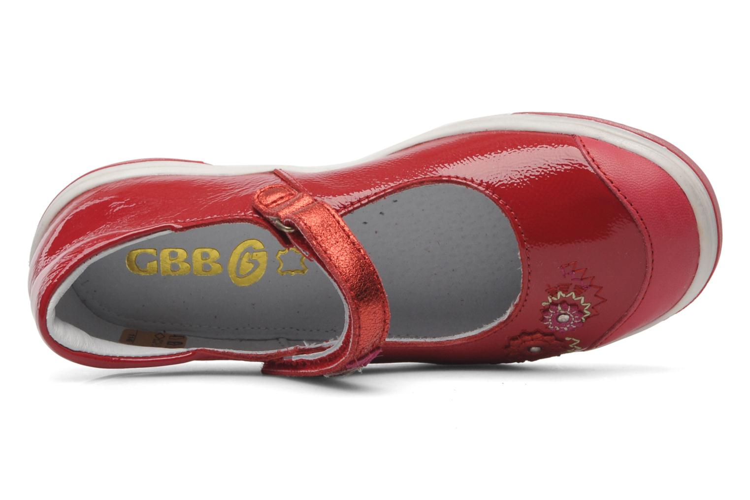 Ballet pumps GBB GIOVANA Red view from the left