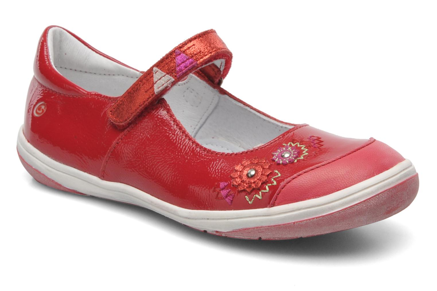 Ballet pumps GBB GIOVANA Red detailed view/ Pair view