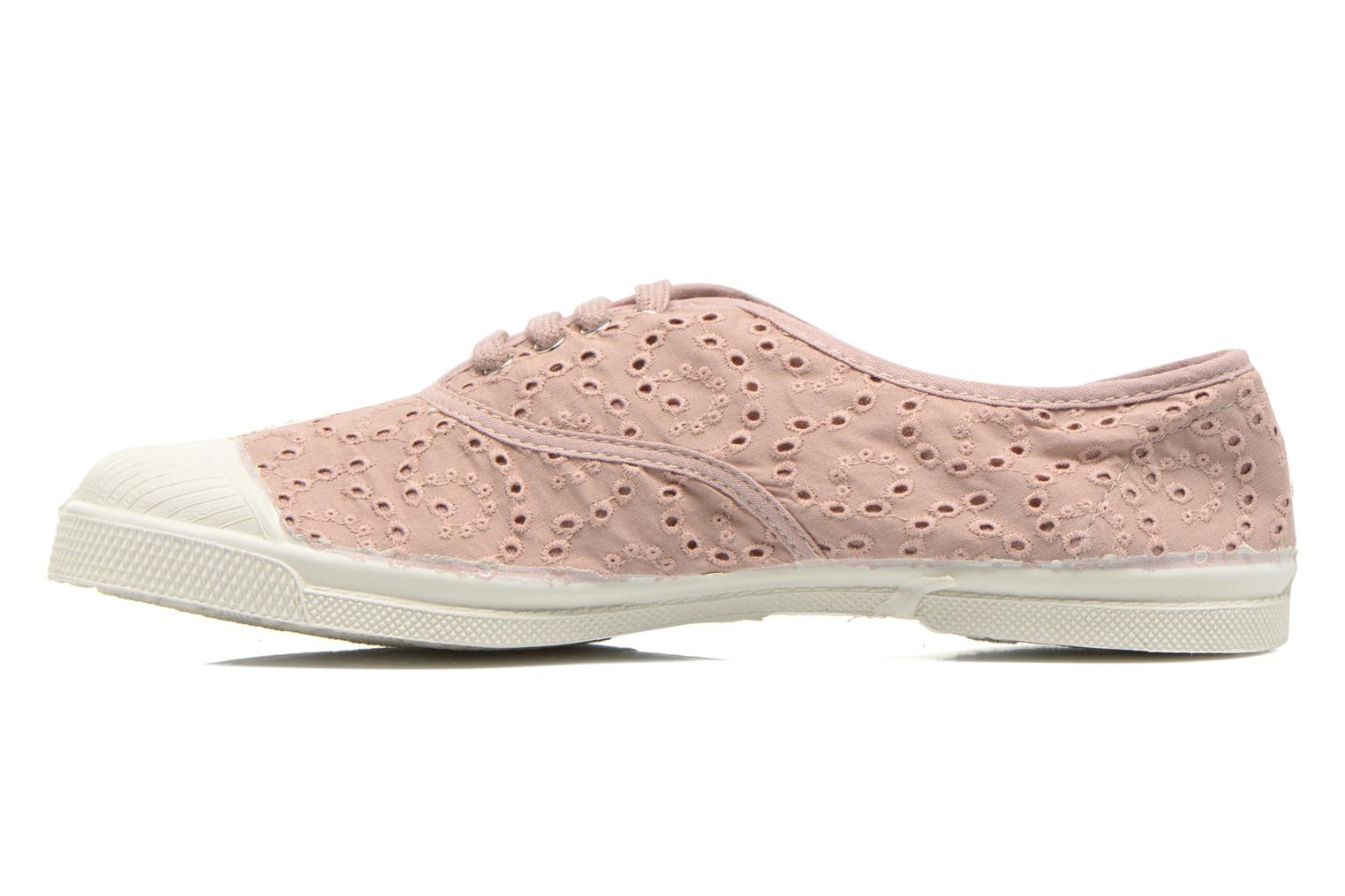 Sneakers Bensimon Tennis Broderie Anglaise Roze voorkant