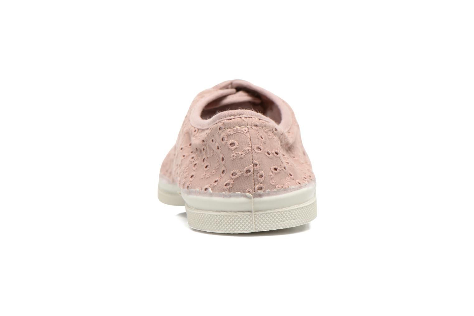 Sneakers Bensimon Tennis Broderie Anglaise Roze rechts
