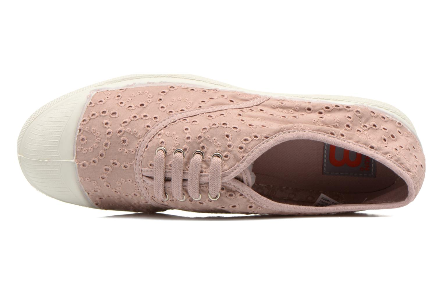 Sneakers Bensimon Tennis Broderie Anglaise Roze links