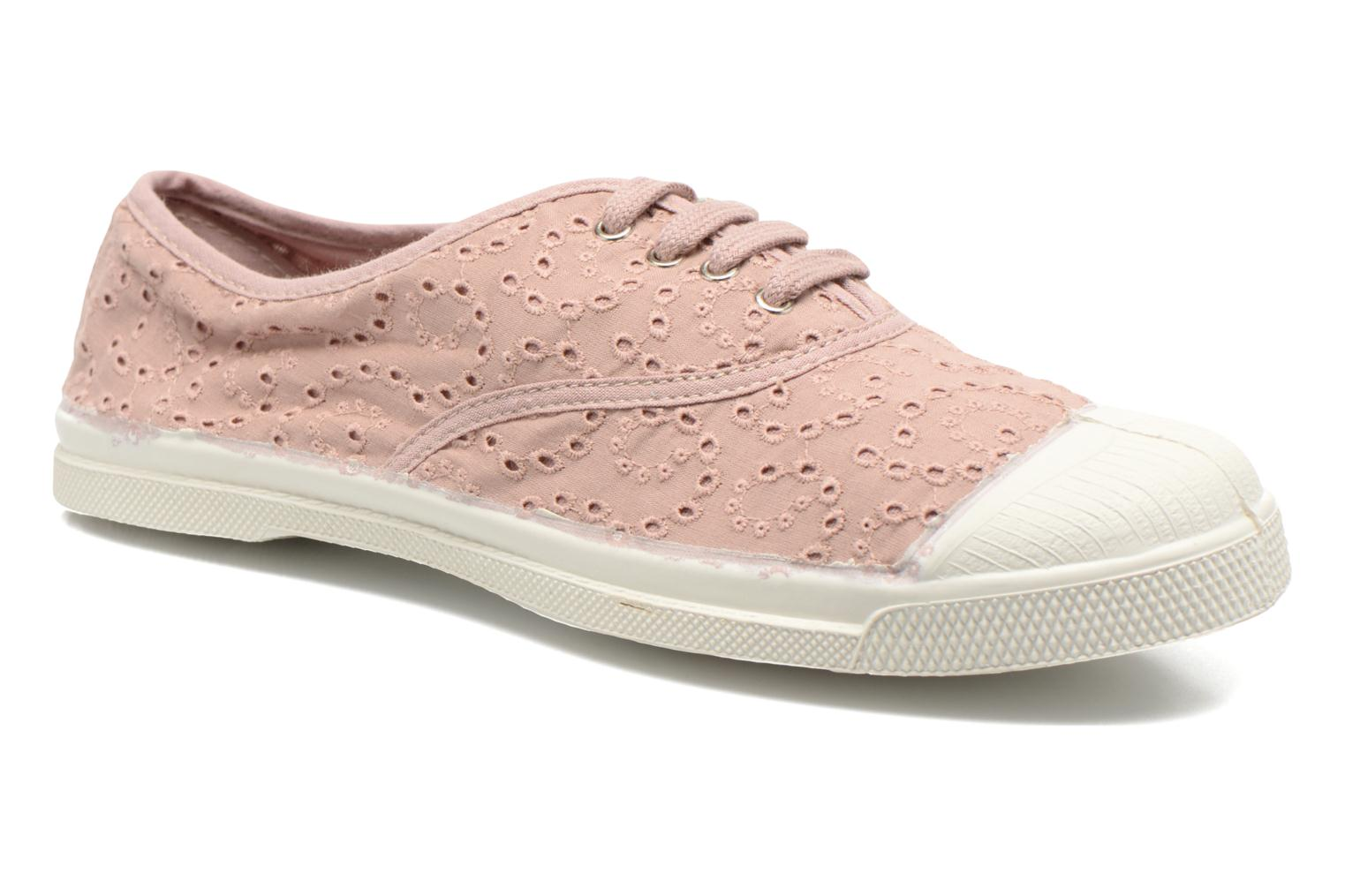 Sneakers Bensimon Tennis Broderie Anglaise Roze detail