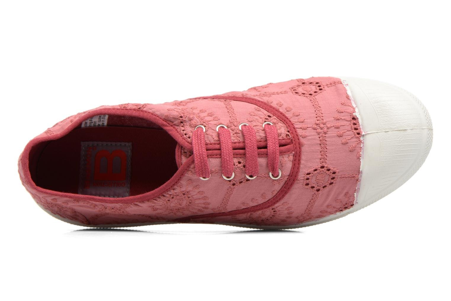 Trainers Bensimon Tennis Broderie Anglaise Pink view from the left