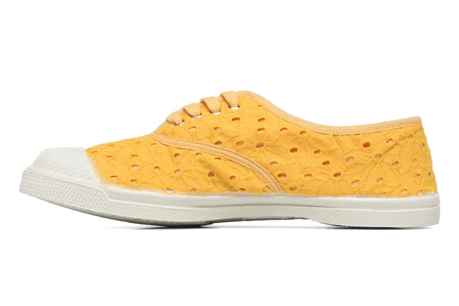 Trainers Bensimon Tennis Broderie Anglaise Yellow front view