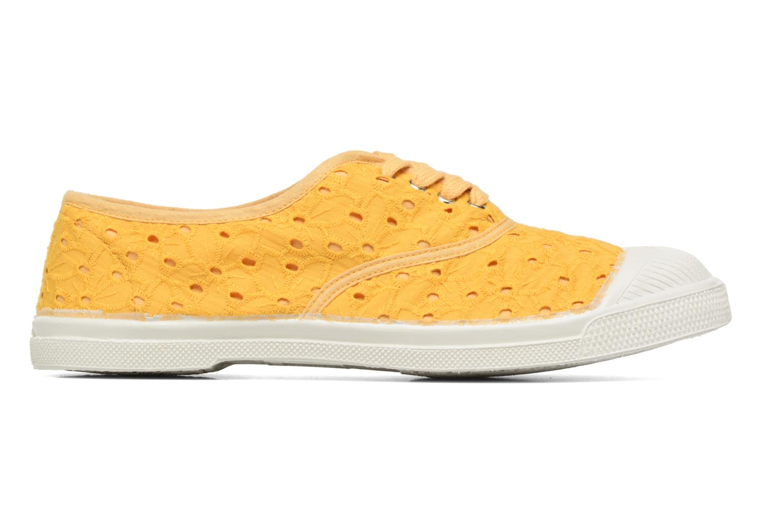 Trainers Bensimon Tennis Broderie Anglaise Yellow back view