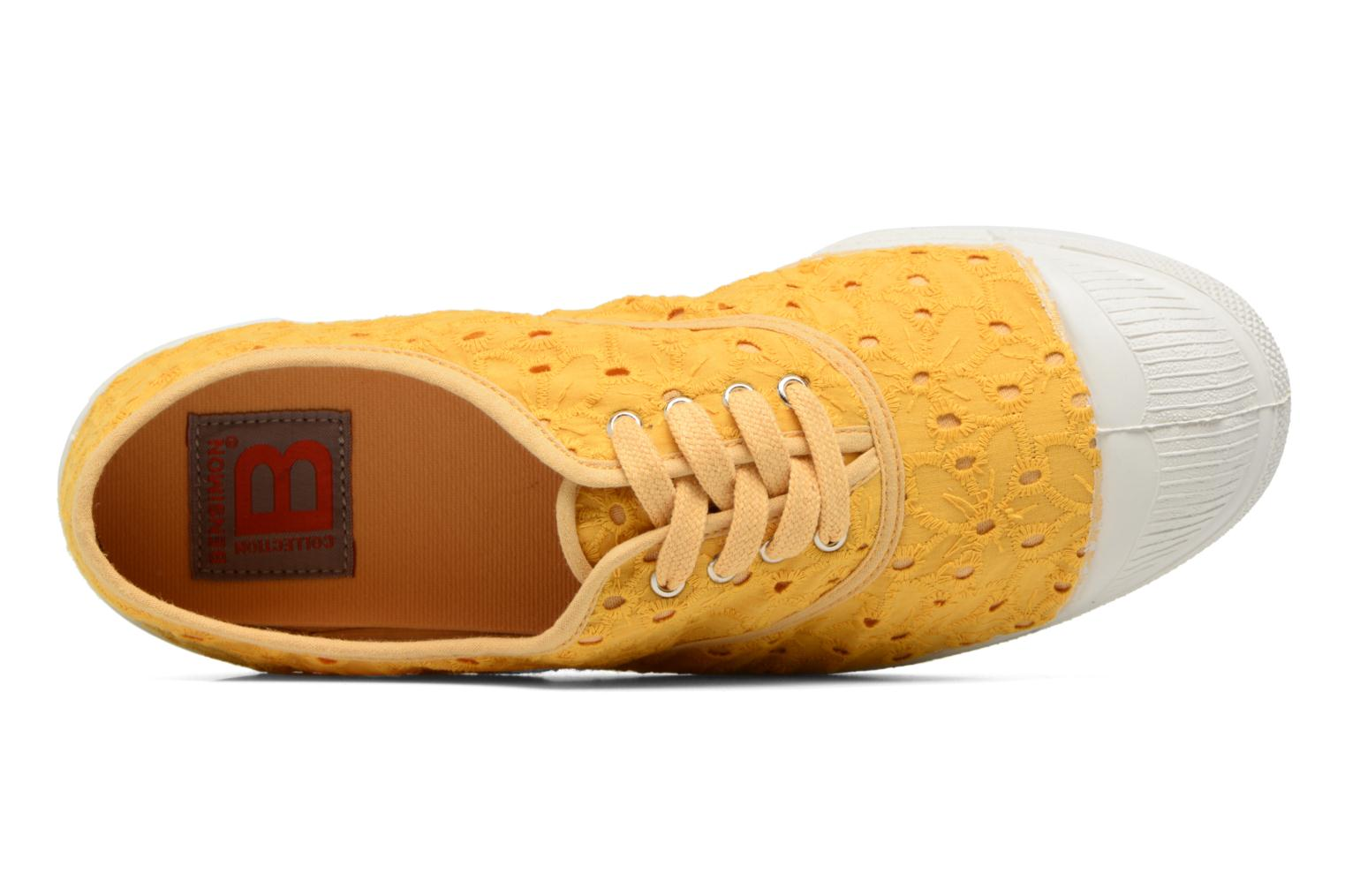 Trainers Bensimon Tennis Broderie Anglaise Yellow view from the left