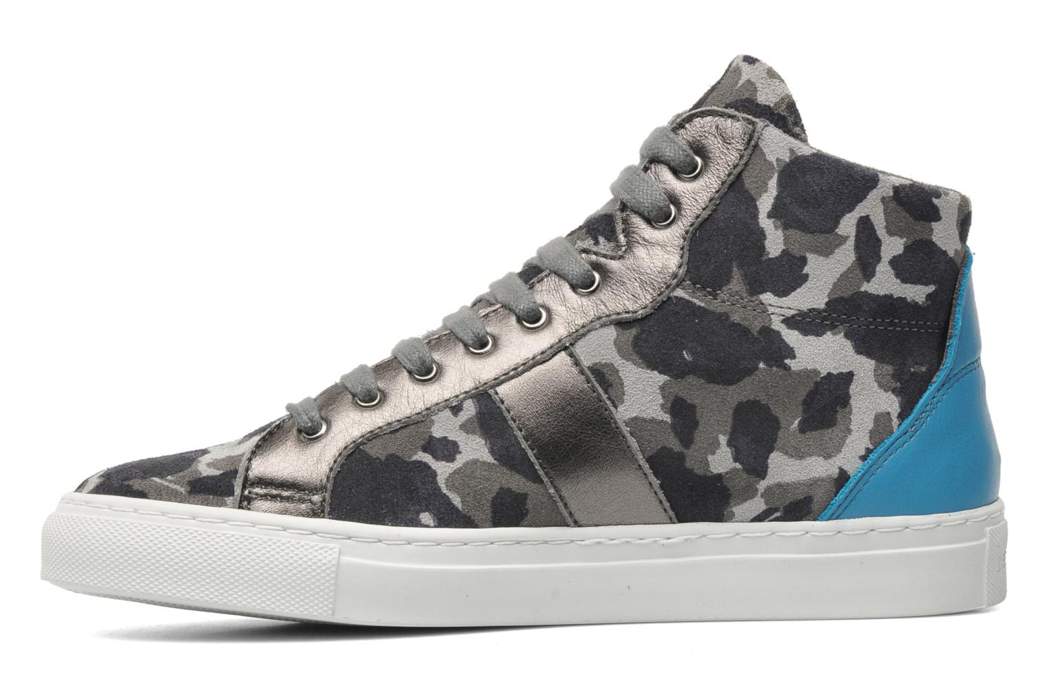 Baskets Bensimon Sneakys Camocolor Gris vue face