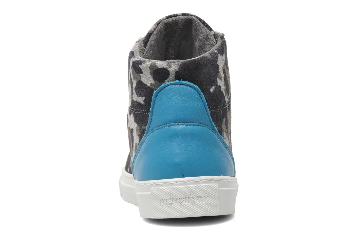 Trainers Bensimon Sneakys Camocolor Grey view from the right