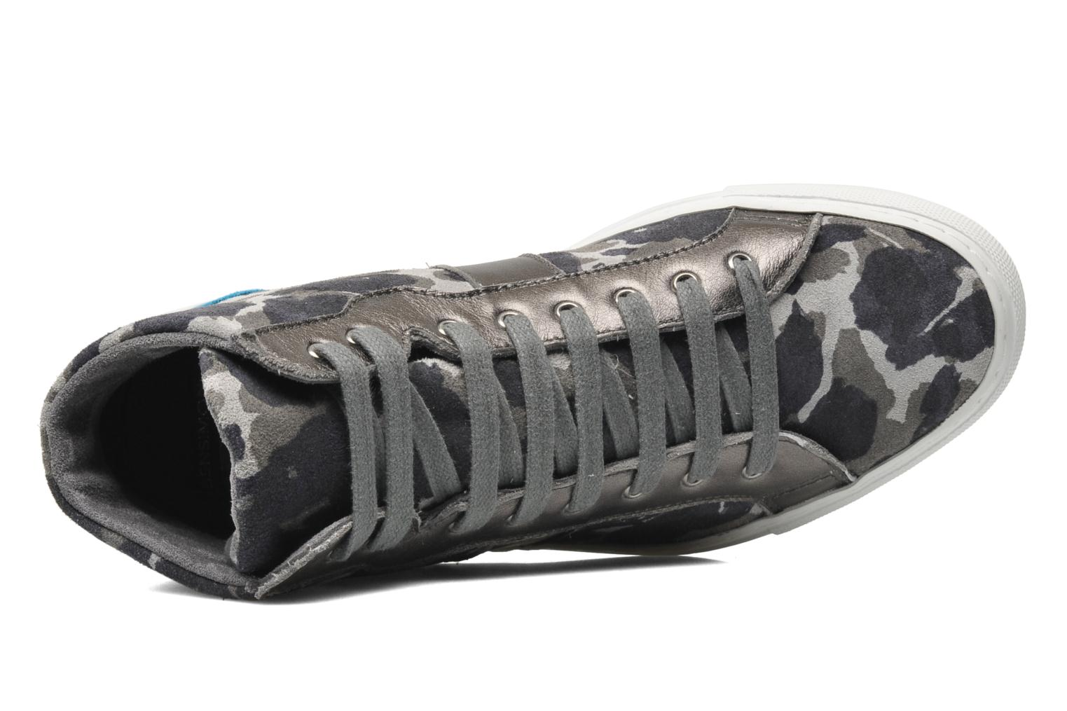 Trainers Bensimon Sneakys Camocolor Grey view from the left