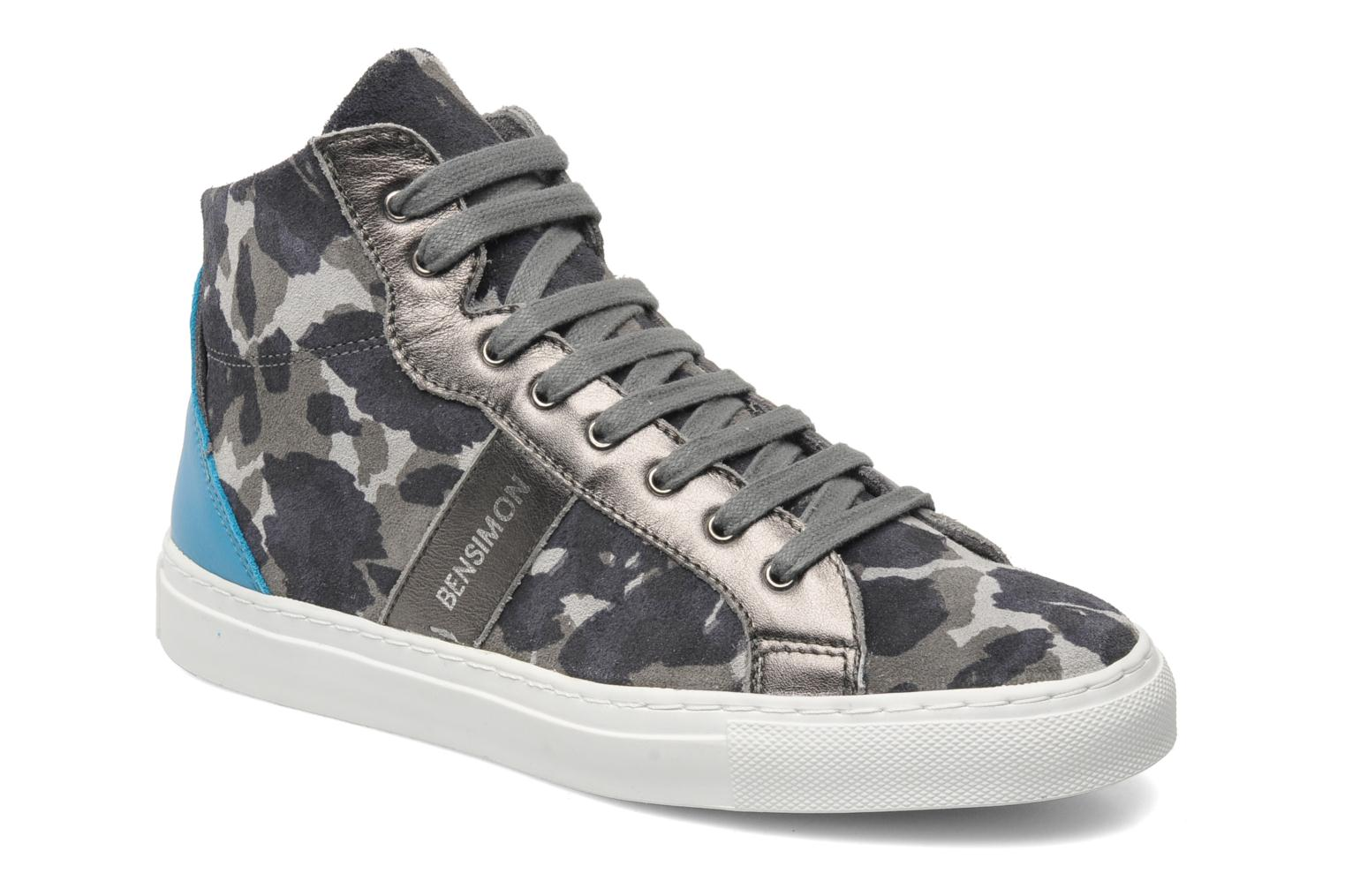Trainers Bensimon Sneakys Camocolor Grey detailed view/ Pair view