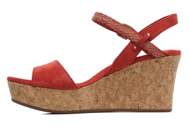 Sandalen UGG D'Alessio rot ansicht von vorne