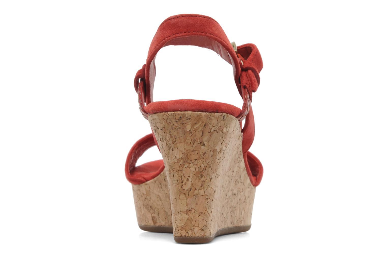 Sandalen UGG D'Alessio rot ansicht von rechts