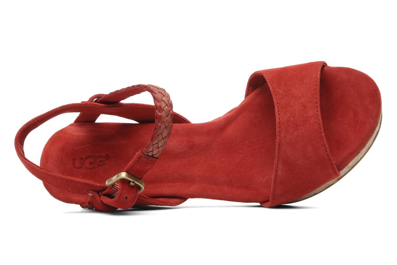 Sandales et nu-pieds UGG D'Alessio Rouge vue gauche