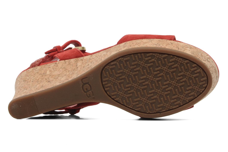 Sandalen UGG D'Alessio rot ansicht von oben