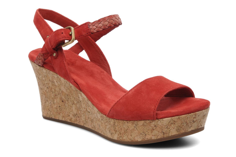 Sandales et nu-pieds UGG D'Alessio Rouge vue détail/paire