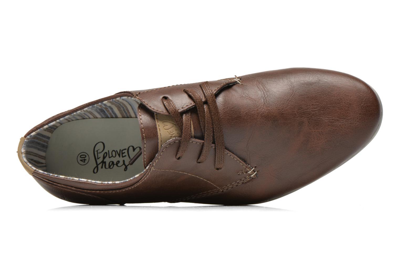 Veterschoenen I Love Shoes Suboites Bruin links