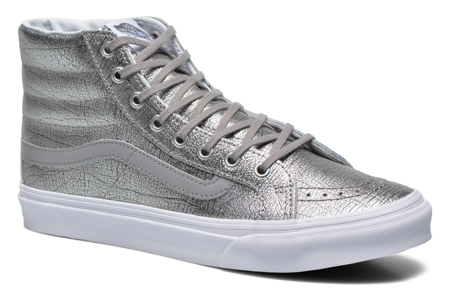 Trainers Vans Sk8-Hi Slim W Silver detailed view/ Pair view