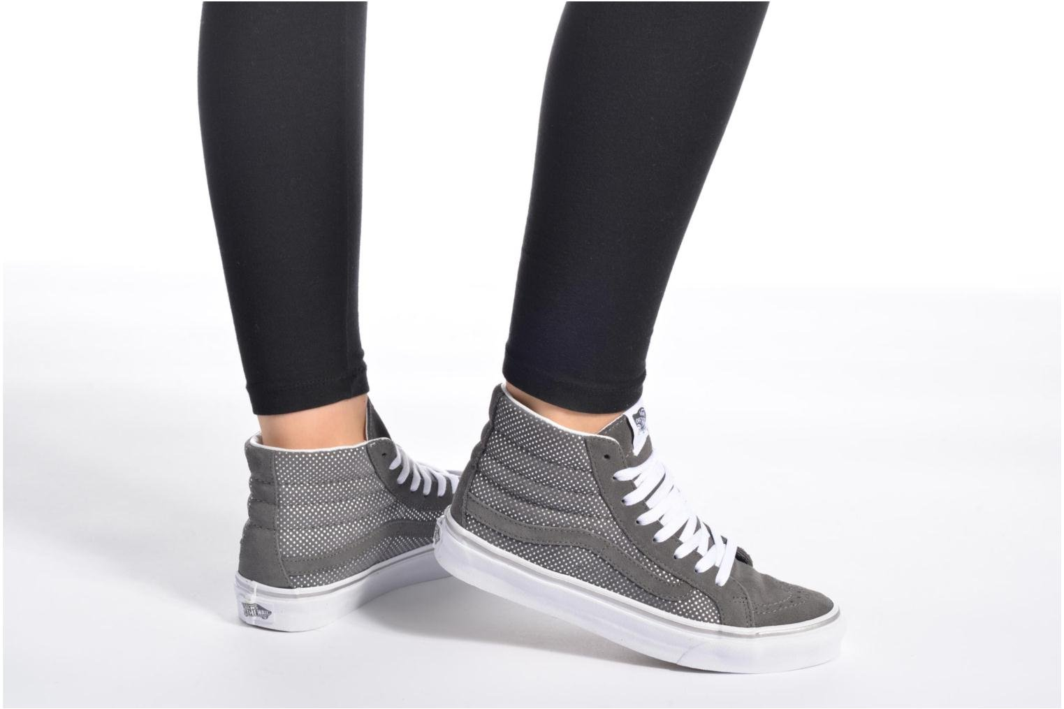 Trainers Vans Sk8-Hi Slim W White view from underneath / model view