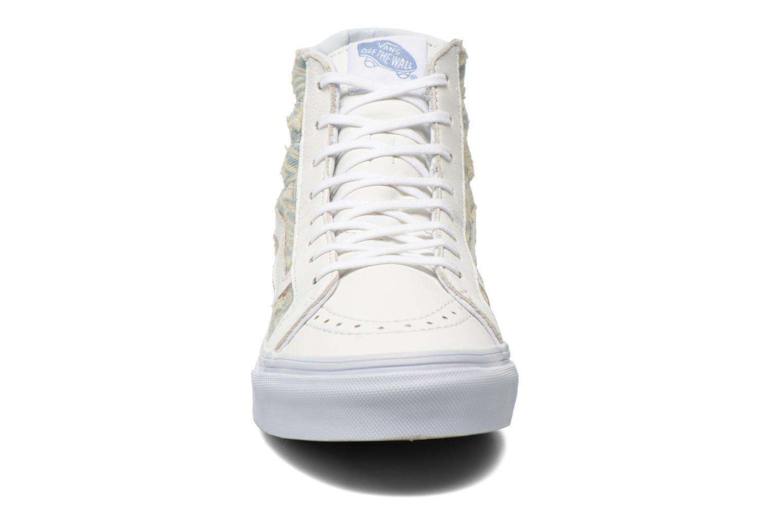 Baskets Vans Sk8-Hi Slim W Blanc vue portées chaussures
