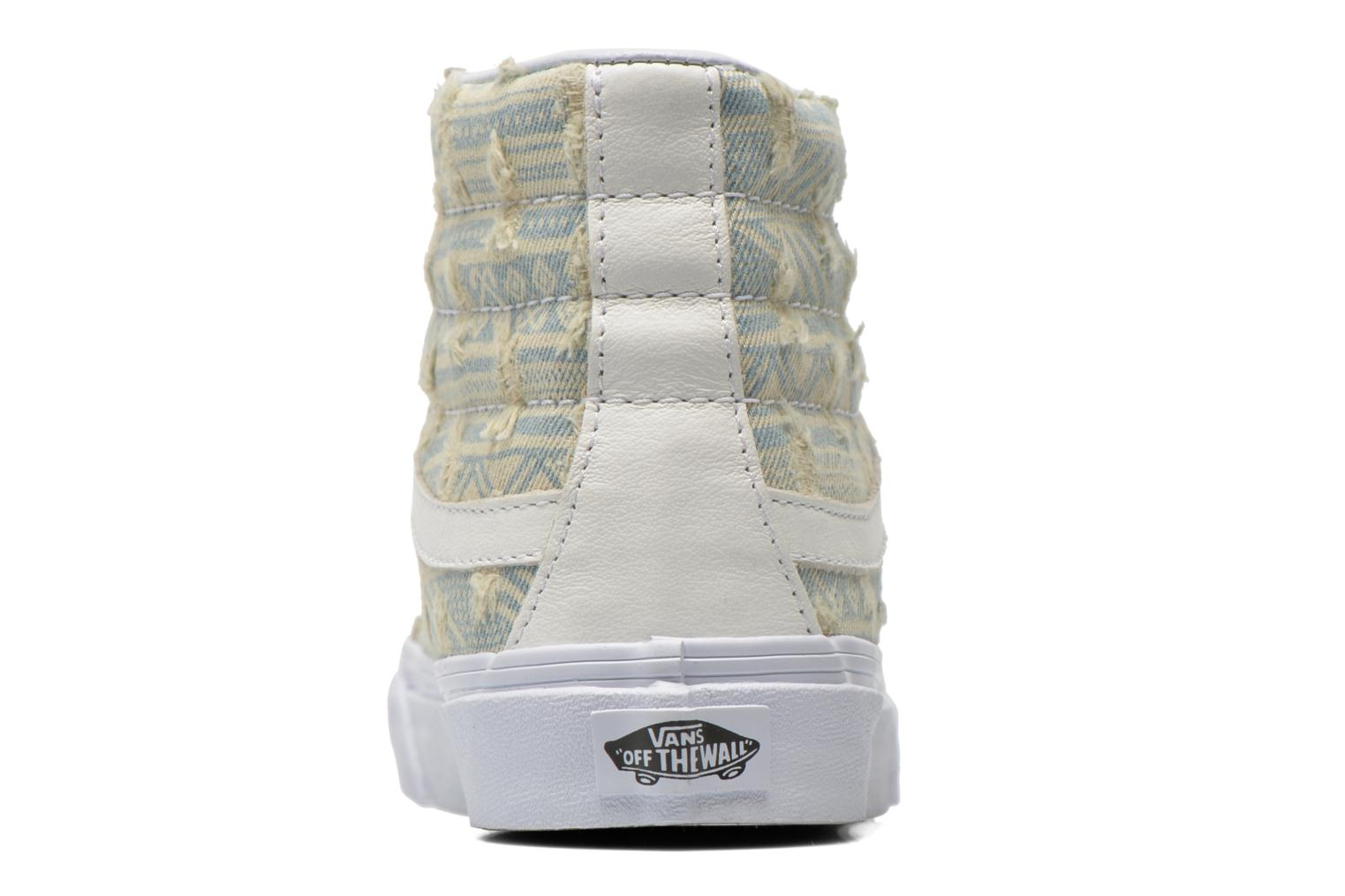 Trainers Vans Sk8-Hi Slim W White view from the right