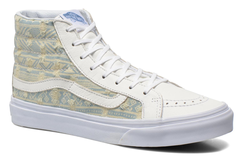 Baskets Vans Sk8-Hi Slim W Blanc vue détail/paire