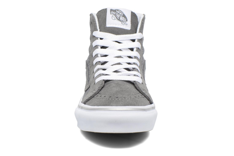 Sneaker Vans Sk8-Hi Slim W grau schuhe getragen