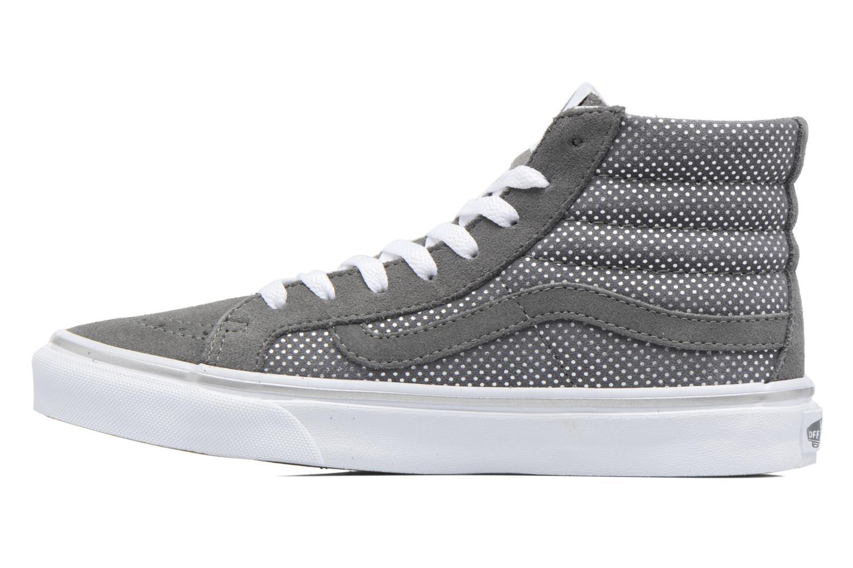 Sneaker Vans Sk8-Hi Slim W grau ansicht von vorne