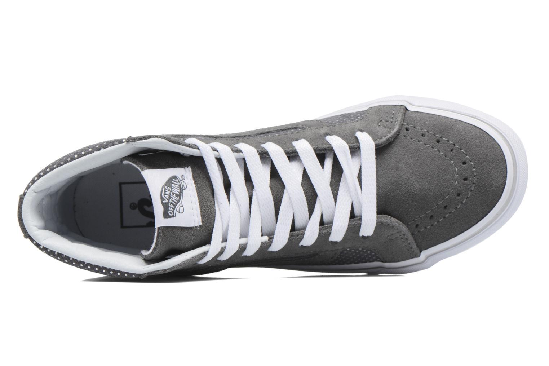 Sneaker Vans Sk8-Hi Slim W grau ansicht von links