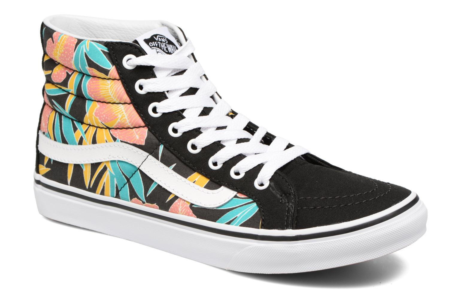 Sk8-Hi Slim W (Tropical Leaves) Black