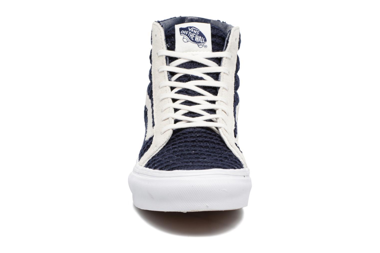 Sneakers Vans Sk8-Hi Slim W Azzurro modello indossato