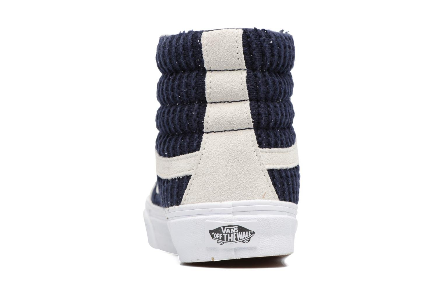 Sk8-Hi Slim W (Suede/Woven) Navy Blue/True White