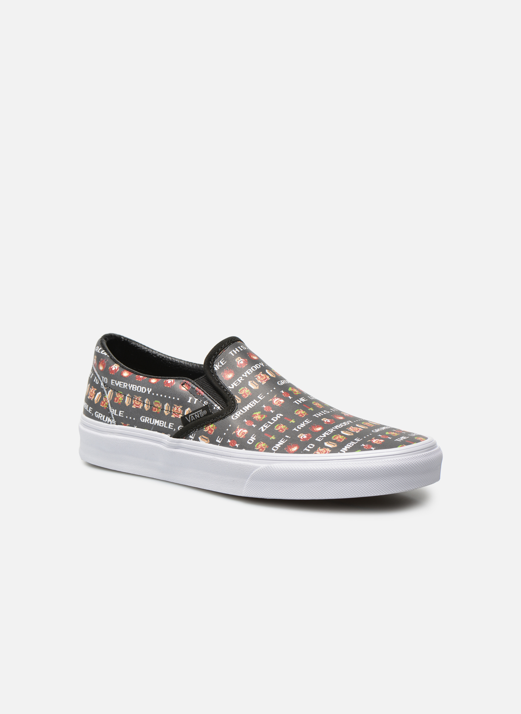 (Suede/Woven) Navy Blue/True White Vans Classic Slip-On W (Bleu)