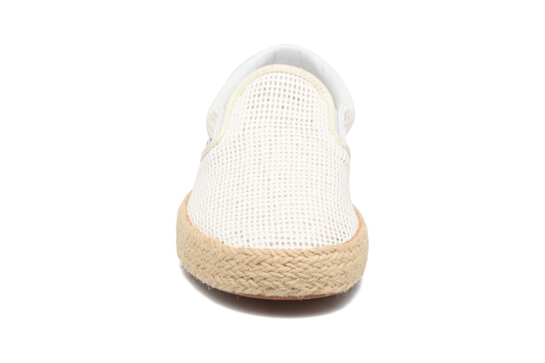 Baskets Vans Classic Slip-On W Blanc vue portées chaussures