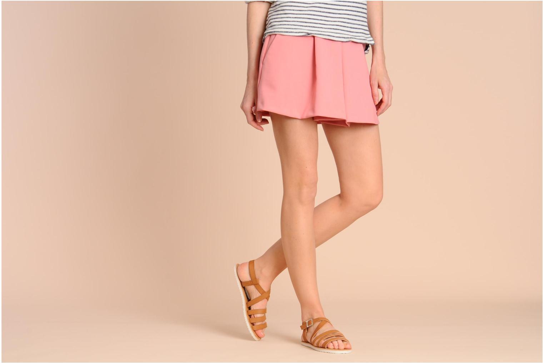 Sandalen I Love Shoes Tharoue weiß ansicht von unten / tasche getragen