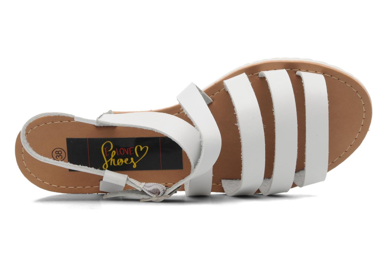 Sandalen I Love Shoes Tharoue weiß ansicht von links