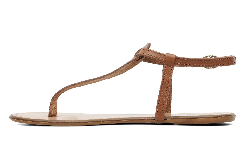 Sandalen Georgia Rose Lufluo cuir braun ansicht von vorne