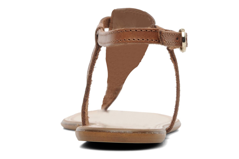 Sandalen Georgia Rose Lufluo cuir braun ansicht von rechts